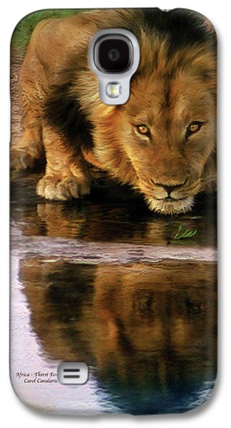 Lions Mixed Media Galaxy S4 Cases - Thirst For Life Galaxy S4 Case by Carol Cavalaris