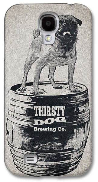 Dogs Digital Galaxy S4 Cases - Thirsty Dog Brewing Co. Keg Galaxy S4 Case by Edward Fielding