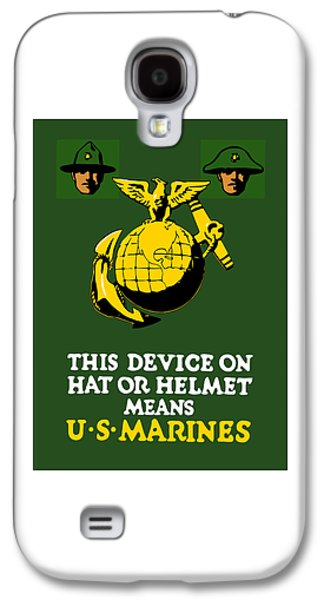Vet Galaxy S4 Cases - This Device Means US Marines  Galaxy S4 Case by War Is Hell Store