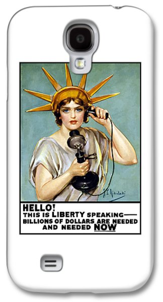 Vet Galaxy S4 Cases - This Is Liberty Speaking - WW1 Galaxy S4 Case by War Is Hell Store