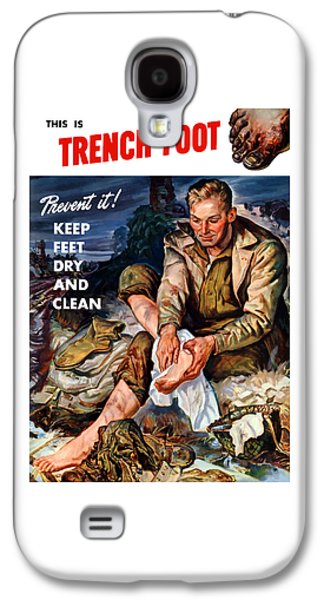 Government Mixed Media Galaxy S4 Cases - This Is Trench Foot - Prevent It Galaxy S4 Case by War Is Hell Store
