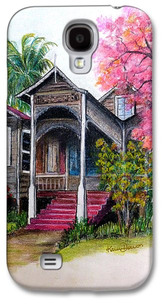 Haunted House Pastels Galaxy S4 Cases - This Old House  Galaxy S4 Case by Karin Kelshall- Best