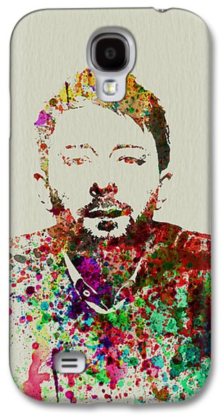 Watercolor Paintings Galaxy S4 Cases - Thom Yorke Galaxy S4 Case by Naxart Studio