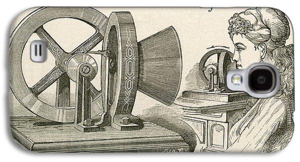 Thomas Edison S Sound Meter. A Machine Galaxy S4 Case by Vintage Design Pics