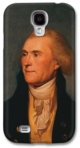 4th July Paintings Galaxy S4 Cases - Thomas Jefferson Galaxy S4 Case by War Is Hell Store