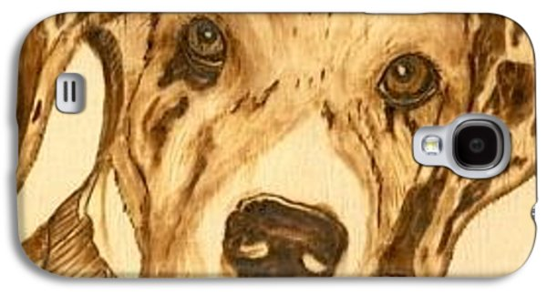 Puppies Pyrography Galaxy S4 Cases - Thor - Great Dane Puppy Galaxy S4 Case by Danette Smith