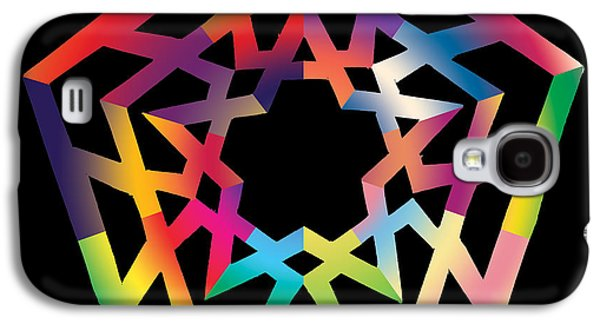 Chromatic Galaxy S4 Cases - Thoreau Star Galaxy S4 Case by Eric Edelman