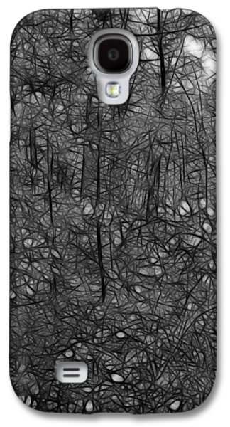 Walden Pond Galaxy S4 Cases - Thoreau Woods Black and White Galaxy S4 Case by Lawrence Christopher
