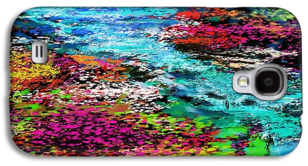 Abstract Digital Digital Galaxy S4 Cases - Thought Upon A Stream Galaxy S4 Case by David Lane