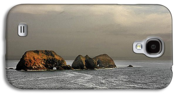 Coast Highway One Galaxy S4 Cases - Three Arch Rocks - Oceanside near Cape Meares - Oregon Galaxy S4 Case by Christine Till