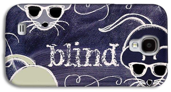Nursery Rhyme Galaxy S4 Cases - Three Blind Mice Children Chalk Art Galaxy S4 Case by Mindy Sommers
