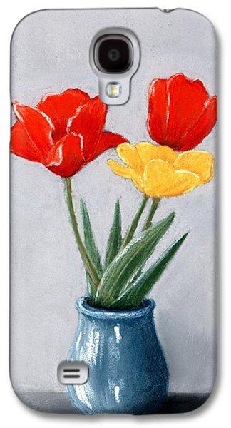Galaxy S4 Cases - Three Flowers in a Vase Galaxy S4 Case by Anastasiya Malakhova
