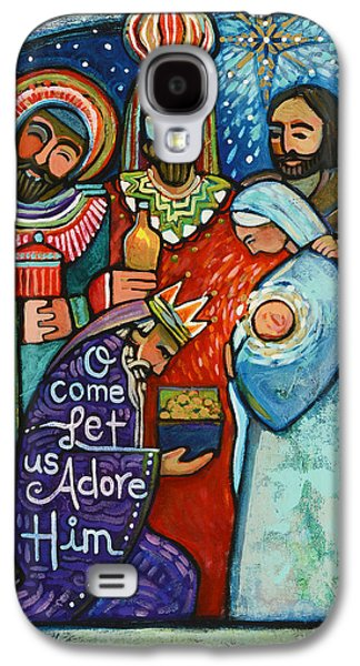 Christ Child Galaxy S4 Cases - Three Kings O Come Let us Adore Him Galaxy S4 Case by Jen Norton