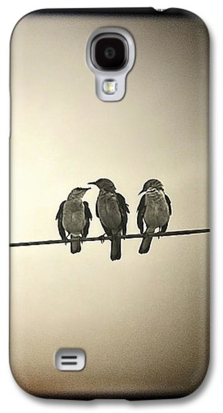 Electrical Galaxy S4 Cases - Three Little Birds Galaxy S4 Case by Trish Mistric