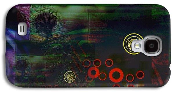 Abstract Digital Digital Galaxy S4 Cases - Through An Orange Grove Galaxy S4 Case by LeRoy Banks