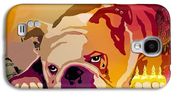 Dogs Digital Art Galaxy S4 Cases - Thug  Galaxy S4 Case by Cindy Edwards