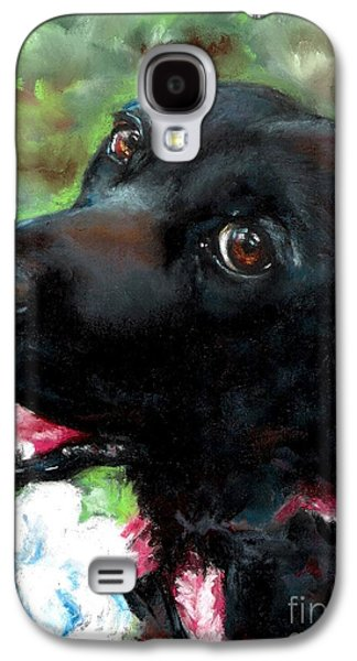 Dogs Pastels Galaxy S4 Cases - Tia Galaxy S4 Case by Frances Marino