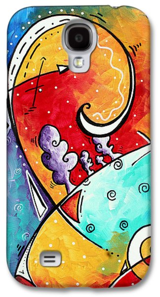 Purple Paintings Galaxy S4 Cases - Tickle My Fancy Original Whimsical Painting Galaxy S4 Case by Megan Duncanson