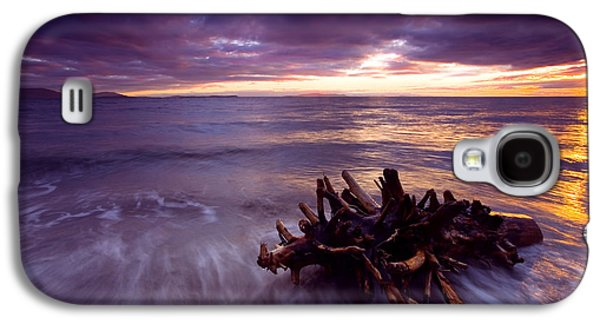 Beach Photographs Galaxy S4 Cases - Tide Driven Galaxy S4 Case by Mike  Dawson