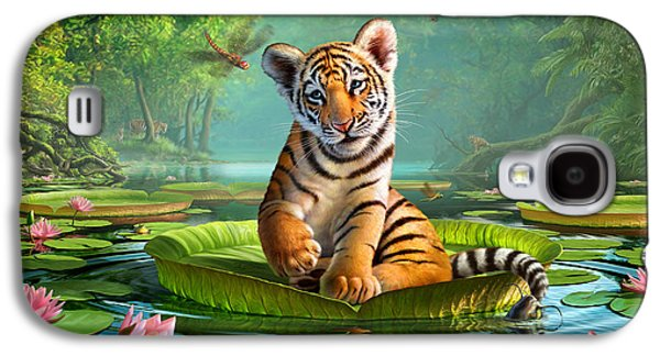 Playful Digital Galaxy S4 Cases - Tiger Lily Galaxy S4 Case by Jerry LoFaro