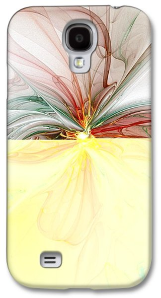 Abstract Digital Art Galaxy S4 Cases - Tiger Lily Galaxy S4 Case by Amanda Moore
