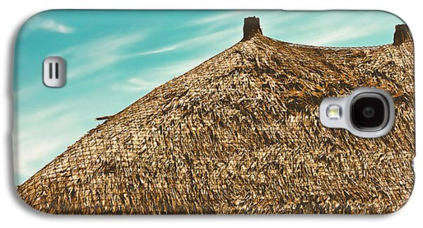 Sun Galaxy S4 Cases - Tiki Hut Galaxy S4 Case by Colleen Kammerer