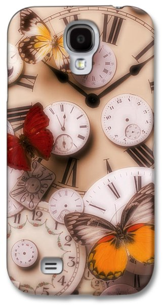 Concept Photographs Galaxy S4 Cases - Time flies Galaxy S4 Case by Garry Gay