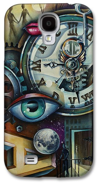 Courage Paintings Galaxy S4 Cases - Time Galaxy S4 Case by Michael Lang