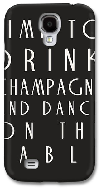 Time To Drink Champagne Galaxy S4 Case by Georgia Fowler