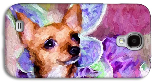 Dogs Digital Galaxy S4 Cases - Tinker Bell Galaxy S4 Case by Shannon Story