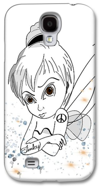 Tinker Bell Galaxy S4 Cases - Tinky Galaxy S4 Case by Tami Dalton