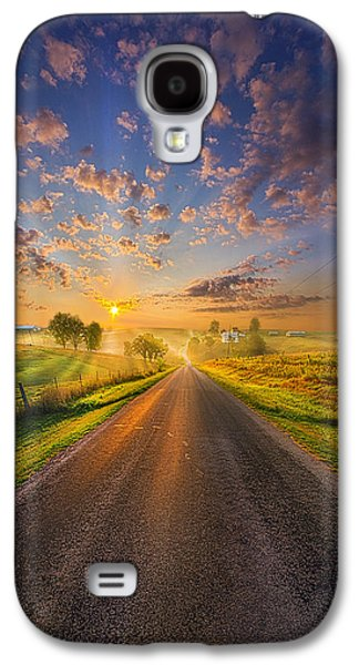 Road Travel Galaxy S4 Cases - To The Place Where Dreams Are Born Galaxy S4 Case by Phil Koch