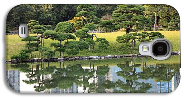 Pond In Park Galaxy S4 Cases - Tokyo Trees Reflection Galaxy S4 Case by Carol Groenen