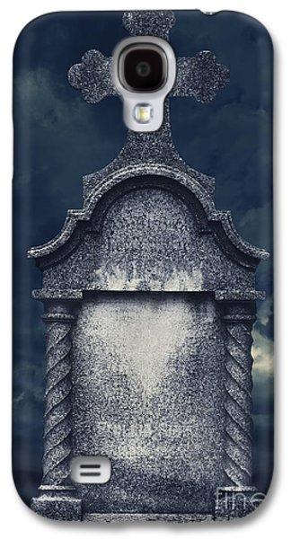 Ancient Pyrography Galaxy S4 Cases - Tombstone Galaxy S4 Case by Jelena Jovanovic