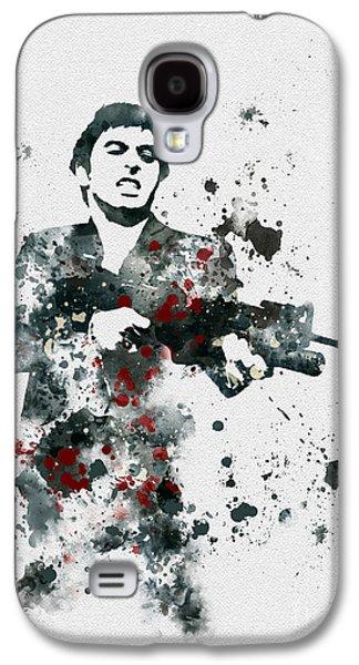 Scarface Galaxy S4 Cases - Tony Montana Galaxy S4 Case by Rebecca Jenkins