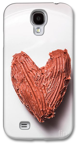 Top View Of Heart Shaped Chocolate Fudge Galaxy S4 Case by Jorgo Photography - Wall Art Gallery
