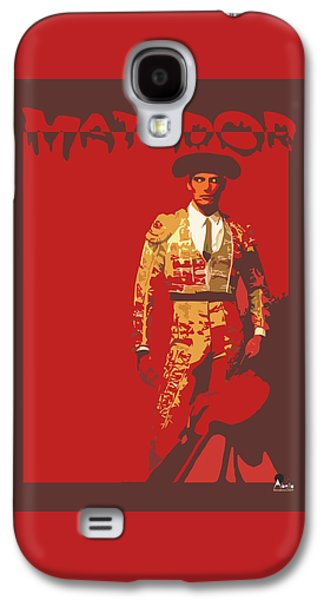 Blood Drawings Galaxy S4 Cases - Torero by Quim Abella Galaxy S4 Case by Joaquin Abella