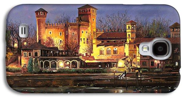 Castle Galaxy S4 Cases - Torino-il borgo medioevale di notte Galaxy S4 Case by Guido Borelli