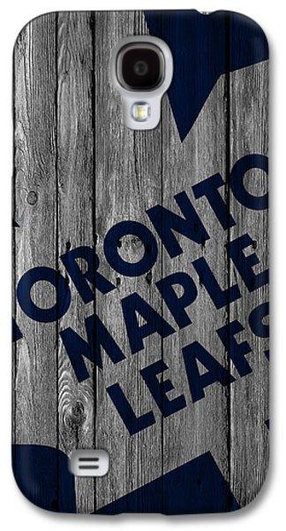 Toronto Maple Leafs Wood Fence Galaxy S4 Case by Joe Hamilton