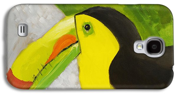 Yellow Beak Paintings Galaxy S4 Cases - Toucan Galaxy S4 Case by Katie OBrien - Printscapes