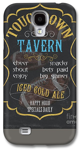 Cold Paintings Galaxy S4 Cases - Touchdown Tavern Galaxy S4 Case by Debbie DeWitt
