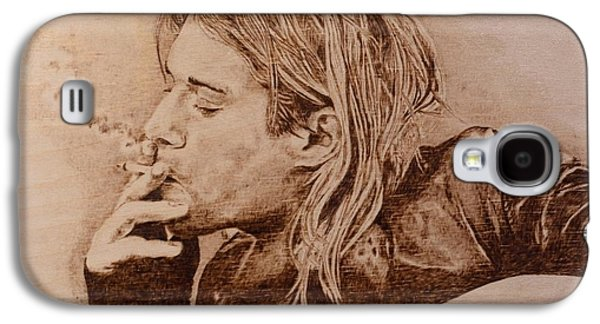 Celebrities Pyrography Galaxy S4 Cases - Touching Genius Galaxy S4 Case by Sergey Zernov