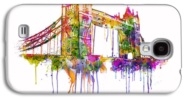 Towers Digital Galaxy S4 Cases - Tower Bridge watercolor Galaxy S4 Case by Marian Voicu