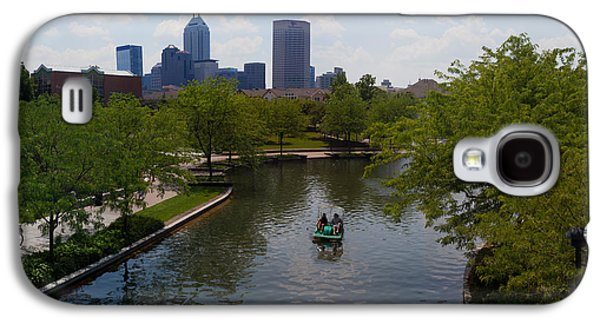 Indiana Scenes Galaxy S4 Cases - Tourists On Paddleboat In A Lake Galaxy S4 Case by Panoramic Images