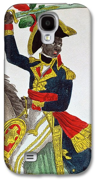 Slaves Drawings Galaxy S4 Cases - Toussaint Louverture Galaxy S4 Case by French School
