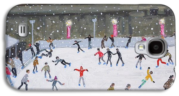 Ice-skating Galaxy S4 Cases - Tower of London Ice Rink Galaxy S4 Case by Andrew Macara