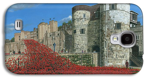 Tower Of London Poppies - Blood Swept Lands And Seas Of Red  Galaxy S4 Case by Richard Harpum
