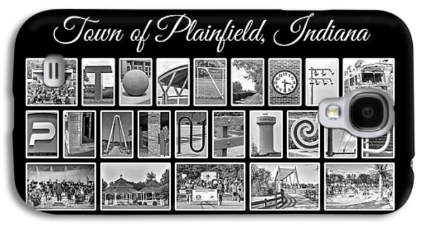 Town Of Plainfield Indiana In Black And White Galaxy S4 Case by Dave Lee