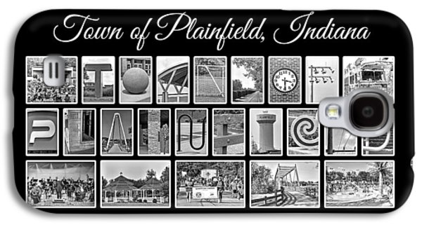 Quaker Digital Galaxy S4 Cases - Town of Plainfield Indiana in Black and White Galaxy S4 Case by Dave Lee