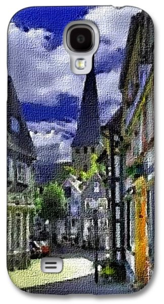 Abstract Digital Pastels Galaxy S4 Cases - Town Scene - Switzerland H A Galaxy S4 Case by Gert J Rheeders